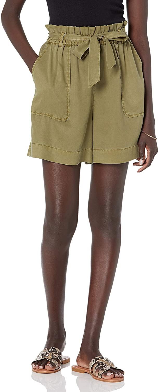The Drop Pantalón para Mujer, Bailey Corto Funcional con Cinturón