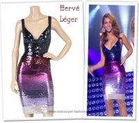 Beyoncé escoge un sensual diseño de Hervé Leger