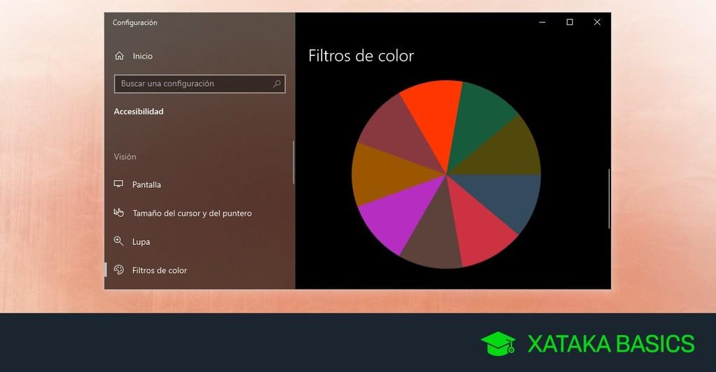 Cómo activar los filtros de color de Windows 10 para personas con problemas de visión