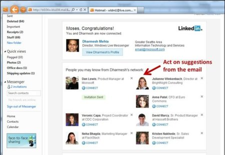 """Hotmail ahora permite correos interactivos de Posterous y LivingSocial mediante las """"ActiveViews"""""""