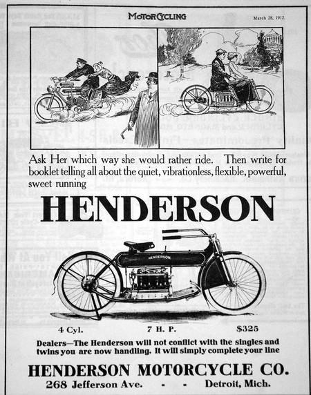Mcc Henderson 1912 Ad Motorcycling