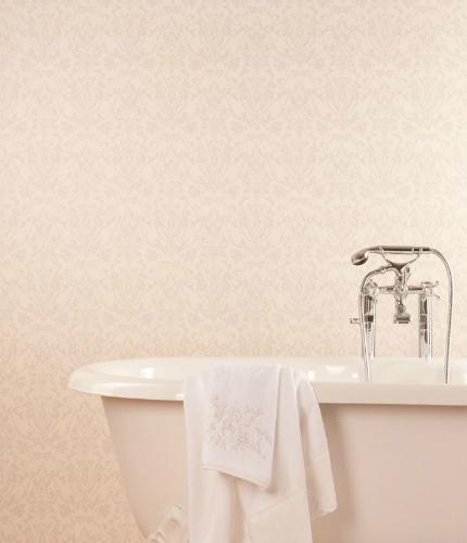 Papel pintado de Zara Home en el baño