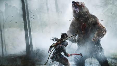 Rise Of The Tomb Raider Game Lara Croft Bear 1366x768