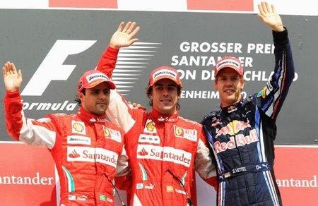 En Italia, entregan la victoria del Gran Premio de Alemania a Felipe Massa