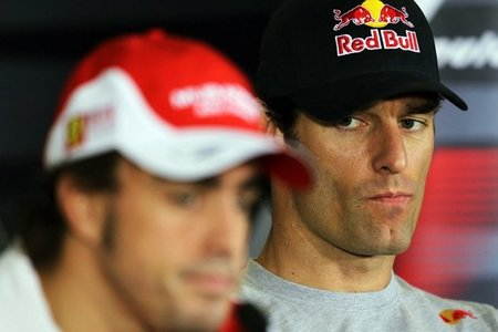 Fernando Alonso y Mark Webber