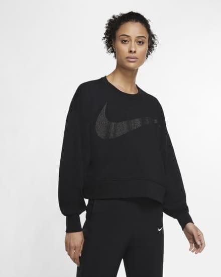 Camiseta De Entrenamiento Con Tejido Fleece Con Brillo Mujer