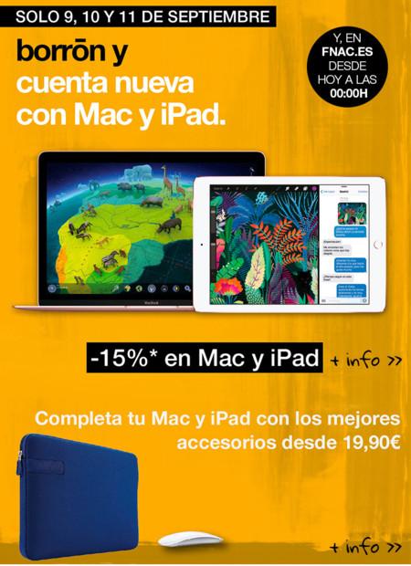 En Fnac, durante este fin de semana, un 15% de descuento en Mac y iPad