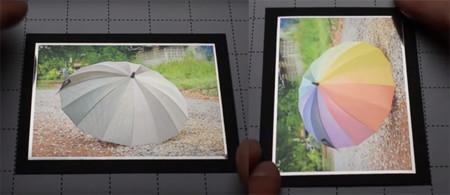 Una nueva técnica de impresión de tinta oculta una foto dentro de otra