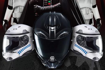Bienvenido al lado oscuro: Los cascos de moto Stormtrooper y Darth Vader de HJC ya están aquí