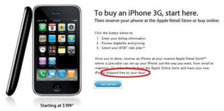 El iPhone 3G se vende online