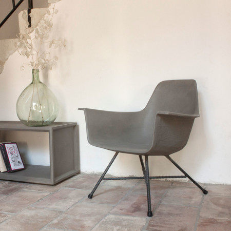 Concrete Low Armchair Gessato 12