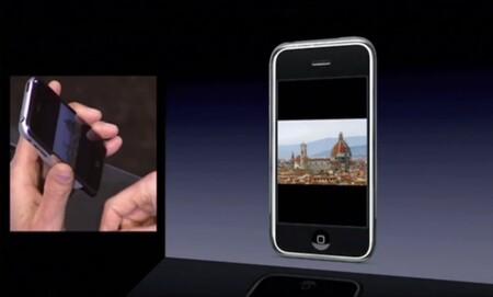 iPhone rotando