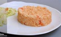 Receta de arroz cremoso con tomate