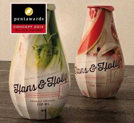 Envases de sopa con premio de diseño