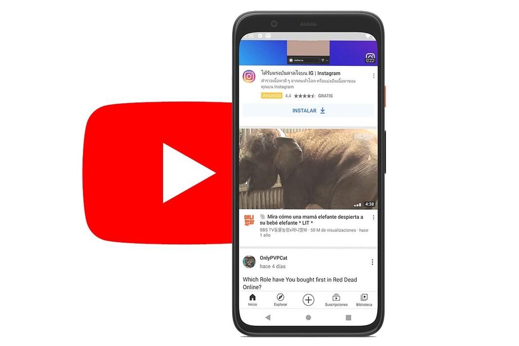 Ver vídeos de YouTube con sonido y al completo desde la pantalla esencial de la app: la última prueba de Google