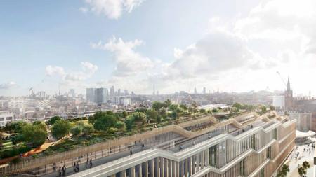 Así lucirá el nuevo y asombroso campus de Google en Londres: jardín en la azotea, piscina y hasta sala de masajes