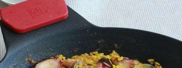Arroz cremoso de almejas y pulpo, receta de domingo