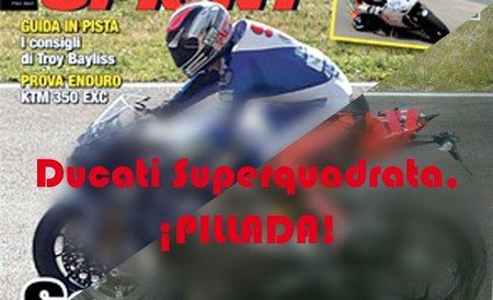 La nueva superbike de Ducati cazada en Mugello