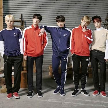 El furor del K-Pop llegará a tu armario con la colaboración de la banda BTS y Puma