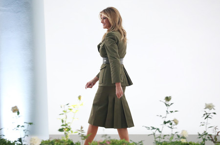 Melania Trump Look Militar Alexander Mcqueen 02