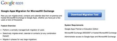 Google Apps Migration para Microsoft Exchange