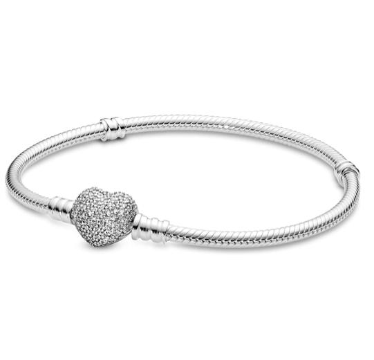 Pandora Pulsera de mujer con Pavee De Corazón 590727 CZ