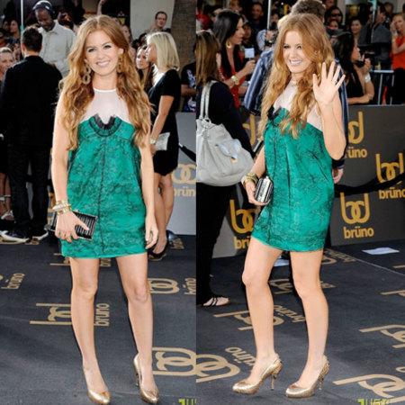 Isla Fisher en la premiere de Bruno en Los Ángeles