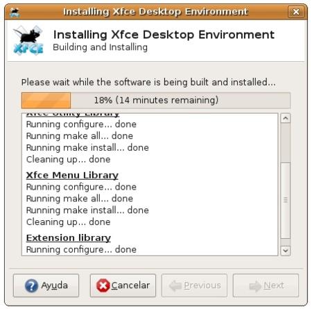 XFCE - Asistente de instalación 2