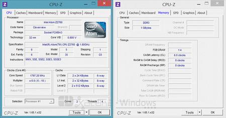 CPU-Z en Acer Iconia W3