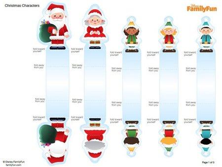 Personajes recortables para la casa de Papá Noel