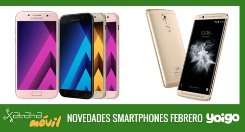 Precios ZTE Axon 7 mini, Samsung Galaxy A5 (2017) y Galaxy A3 (2017) con pago a plazos Yoigo