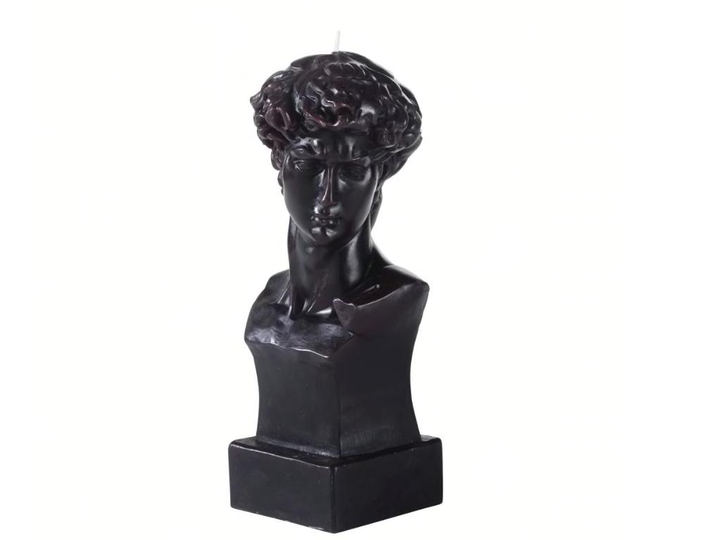 Vela de busto de cera negra Alt. 23