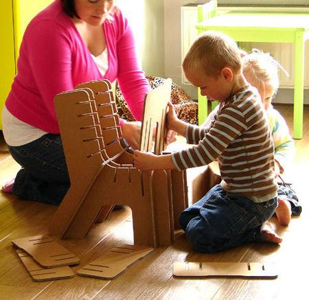 Construye tu silla-puzzle de cartón