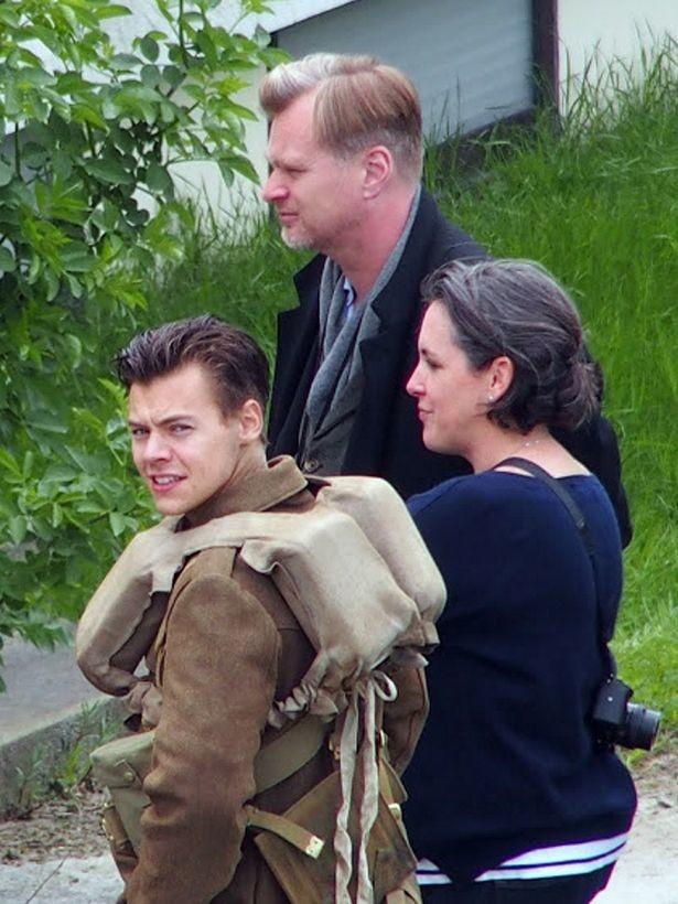 Harry Styles en el rodaje de Dunkirk