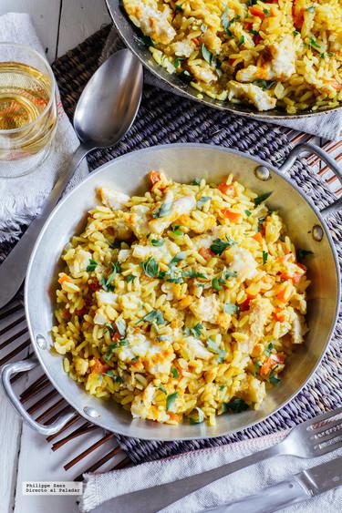 Arroz con pescado al curry: receta fácil
