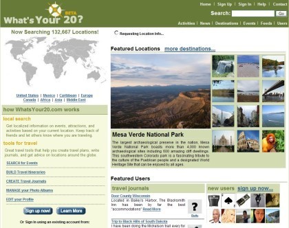WhatsYour20: red social de viajes