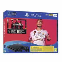 PlayStation Slim 1TB con dos mandos con el juego FIFA 20 y código descargable de FUT 20 rebajada en Amazon: 319 euros