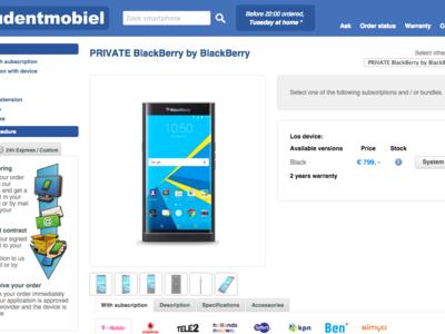 ¿799 euros por la BlackBerry Priv en Europa? Ese parece que será su precio