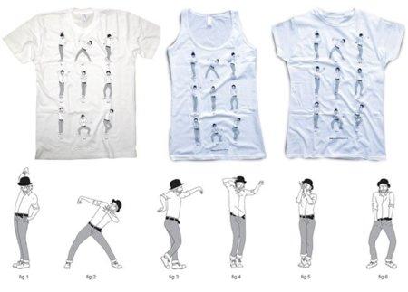 Lotus dance: camiseta con los pasos de baile de Thom Yorke