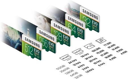 Velocidad de transferencia de datos de la microSD Samsung EVO Select