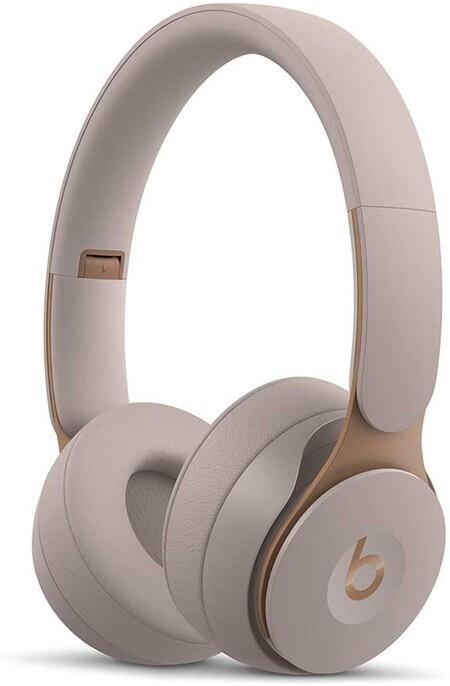 Audífonos on-ear Beats Solo Pro Wireless con cancelación de ruido, Chip H1, Bluetooth Class 1, cancelación de ruido activa, modo ambiente, 22 horas de audio (Gris)