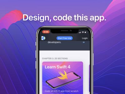Design+Code llega a la App Store de iOS para enseñarte a programar y diseñar tus apps