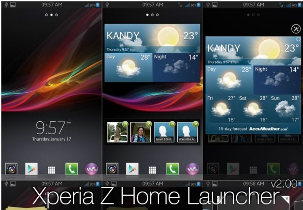 Sony Xperia Z Home Launcher