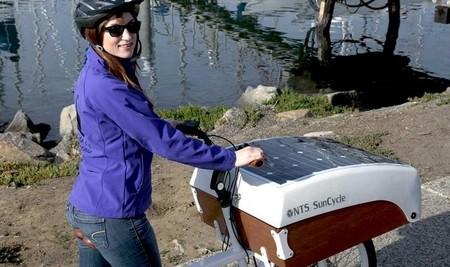 NTS SunCycle, bicicleta eléctrica de carga con recarga solar