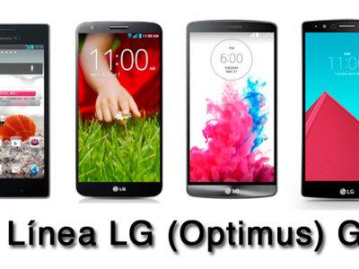 ¿Cómo ha evolucionado la línea LG (Optimus) G?