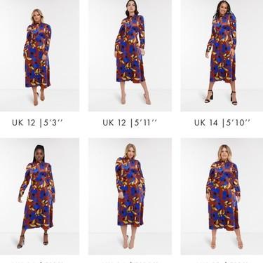La nueva herramienta de Asos permite ver cómo te queda la ropa sea cual sea tu talla