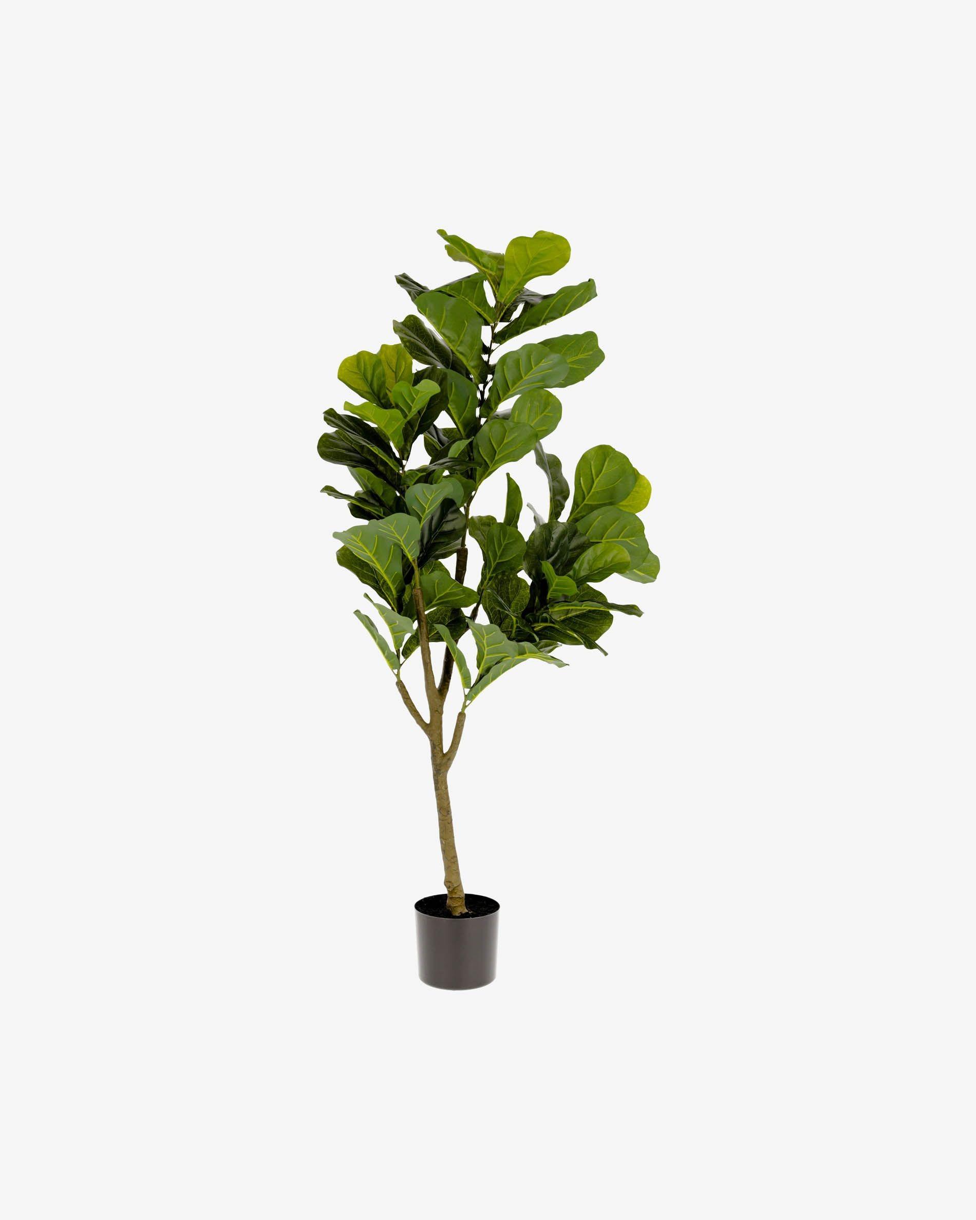 Planta artificial Ficus con maceta negro 150 cm