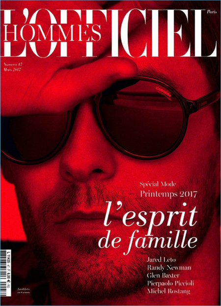 Jared Leto Lofficiel Hommes Cover 2017