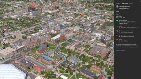 Búsqueda e indicaciones en Mapas Bing