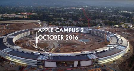 Así luce el Apple Campus 2 en octubre en dos nuevos vídeos: de día y de noche